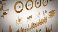 Unternehmensstatistik, Marktdaten und Infografiken Layout