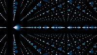 Boucle de fond abstrait 3d lignes pointillées en rotation