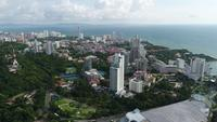 Aerial panoramic view of Pattaya Beach THAILAND