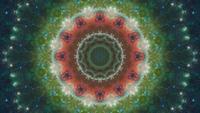 Kaléidoscope de nébuleuse du coeur et de l'âme