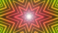 Abstract Neon Shiny Star Shape Background Loop