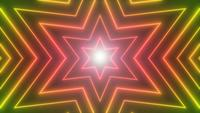 Abstrakt Neon Shiny Star Shape Background Loop