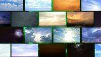Tijdspanne bewolkte zonsopgang, zonsondergang en storm met klimaatverandering