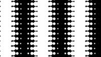 Looping dynamic black and white dot circle
