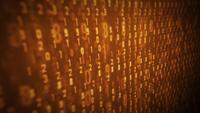 Pantalla de ordenador con bucle de código binario