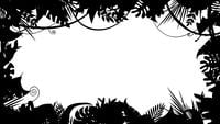 Black And White Jungle Landscape Silhouette Animation Loop