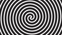 Een draaiende hypnotische abstracte spiraalvormige lus