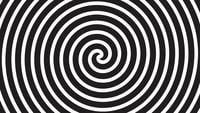Une boucle spirale abstraite hypnotique en rotation