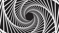 Eine spinnende hypnotische abstrakte gewundene Schleife