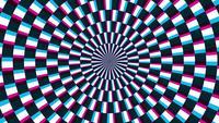 Un bucle espiral abstracto hipnótico que gira.