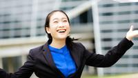 Porträt einer erfolgreichen Geschäftsmannunternehmerfunktion