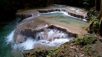 Erawan vattenfall, Erawan nationalpark i Kanchanaburi, Thailand