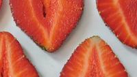Strawberry background motion design video