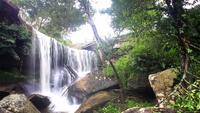 Beautiful waterfall in Phukradung