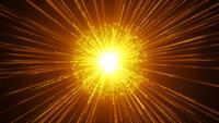 Fyrverkerier Slow Motion Bakgrund Med Lysande Starburst
