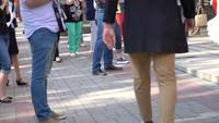 Gente caminando en la ciudad