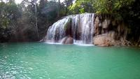 Erawanwaterval, het nationale park van Erawan in Kanchanaburi, Thailand