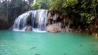 Cascada de Erawan, Parque Nacional de Erawan en Kanchanaburi, Tailandia