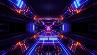 Futuristischer SciFi Space Ship Tunnel
