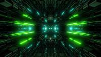 Strukturierter SciFi-Glitzertunnel