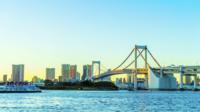 Pont arc-en-ciel à tokyo, japon