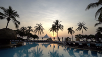 Outdoor Swimming Pool at Sunrise
