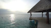 Océan sur l'île des Maldives
