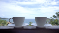 Copos de Café com Vista Exterior