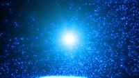 Abstrait particule de lumière au ralenti