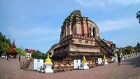 Wat Chedi Luang Temple på Chiang Mai, Thailand