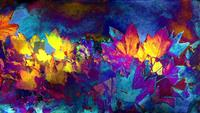 Colorful Autumn Foliage Art Background