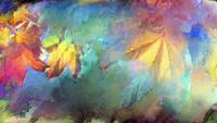 Bunter Herbstlaub Art Background