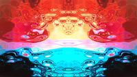 Formas y flujos de imágenes abstractas de Rorschach