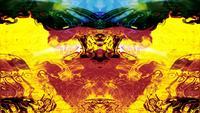 Abstracte Rorschach-beeldvormen en -stromen