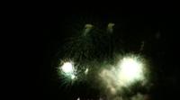 Beau feu d'artifice la nuit