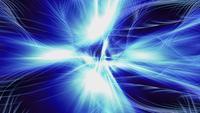 Les ondes lumineuses fractales ondulent et brillent