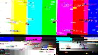 TV Color Bars with a Digital Malfunction