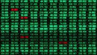 Una cuadrícula de datos de números de transmisión