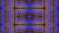 Ein symmetrisches Technologie-Kaleidoskop reflektiert und dreht sich