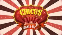 Fondo de circo vintage