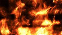 Fundo de fogo cintilante com falhas