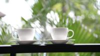 Koffiekopje met buitenaanzicht