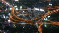 Cidade de Bangkok à noite