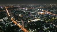 Ciudad de bangkok por la noche