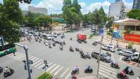 Ho chi minh, trafic urbain à l'intersection, Vietnam
