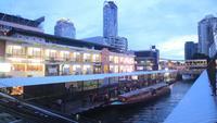 Hoogste mening van uitdrukkelijke boot in Bangkok, Thailand