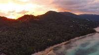 Vue aérienne de l'île de Samui en Thaïlande