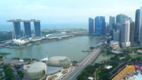 Flygfoto över Singapore