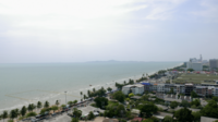Pattaya-Stadt in Thailand