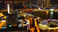 Singapore på natten